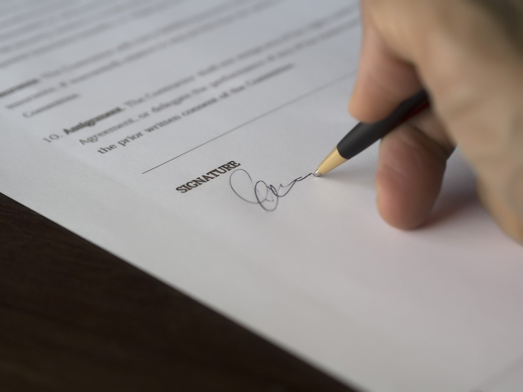 Contract Einde Register